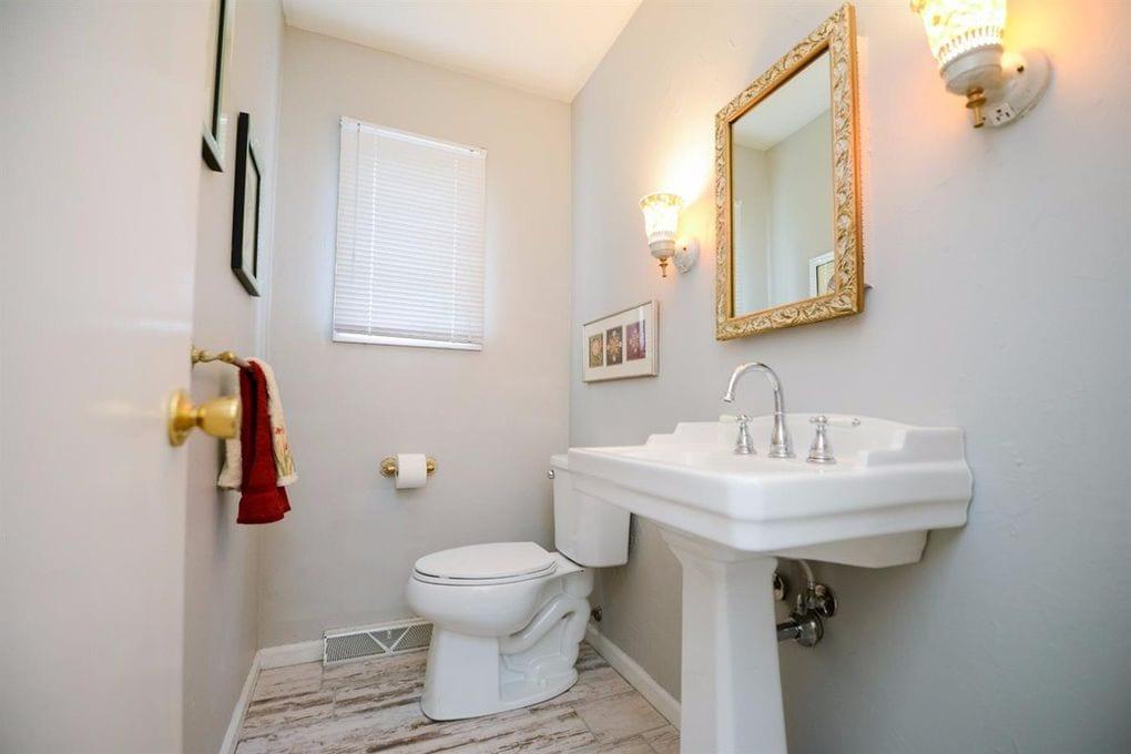 White Oak Farmhouse Half Bath
